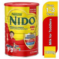 Nestlé Nido FortiProtect One Plus (1-3 Years Old) Growing Up Milk Tin 1800g