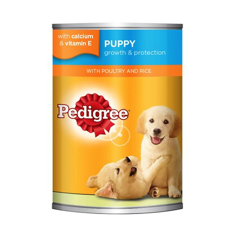 PEDIGREE®-Poultry-and-Rice-Wet-Dog-Food-Puppy-Up-to-12-months-Can-400g-