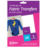 Avery Fabric Transfer Dark HTT02