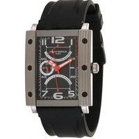 Mount Royale Men's Watch Black Dial Rubber Band Watch-7N82