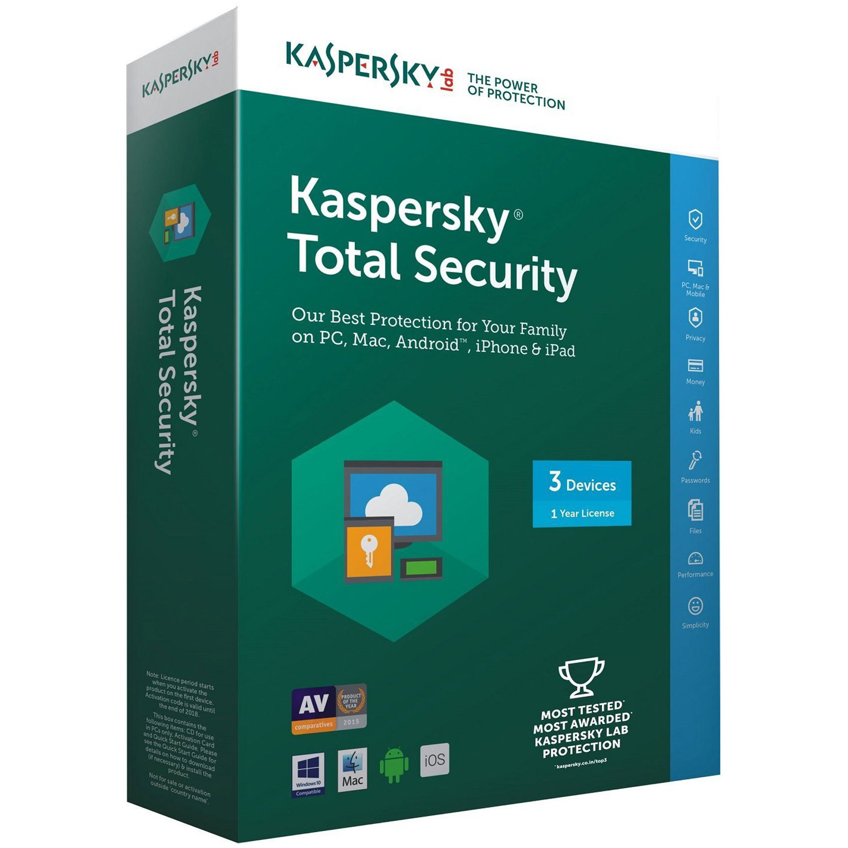 KASPERSKY TOTAL SECURITY 3 USER