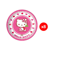Sanrio Plate Hello Kitty Heart 20CM 8 Pieces