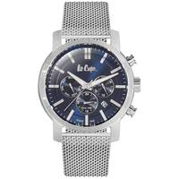 Lee Cooper Men's Multi-Function Silver Case Silver Super Metal Strap Blue Dial -LC06357.540