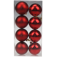 Balls Set 8Pcs 6Cm Red