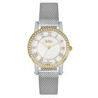 Lee Cooper Women's Analog Silver Case Silver Super Metal Strap Silver Dial -LC06353.220