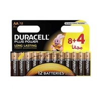 Duracell Plus Power Long Lasting AA12 8+4 Free