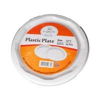 لا كاسا ميا صحن بلاستيك قياس 22 سنتيمتر 25 قطعة