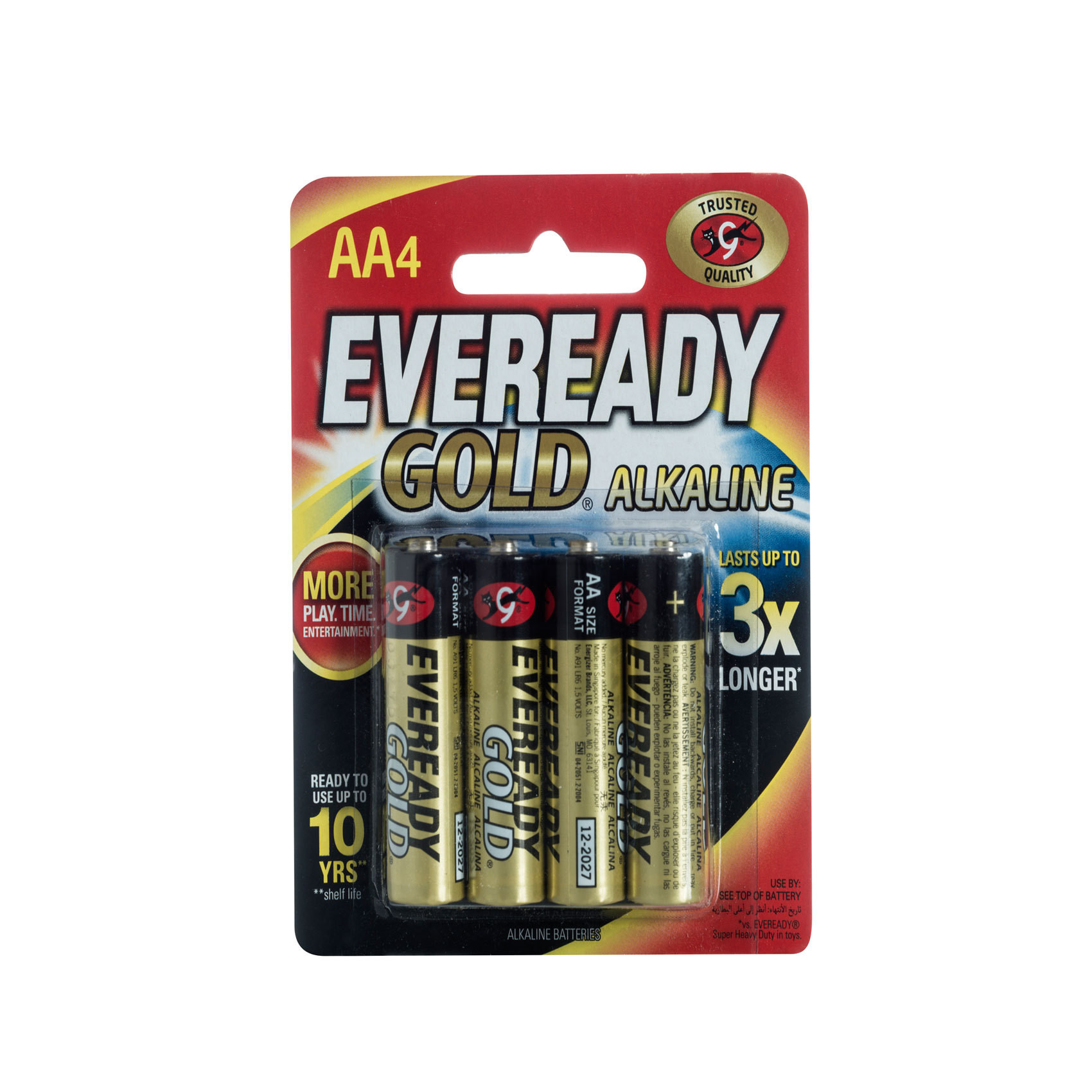 EVEREADY BATTERY AAX4 ALKALINE