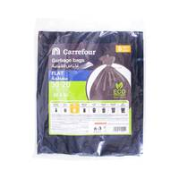 Carrefour Flat Garbage Bags Small 20 Bags 30 Gallons