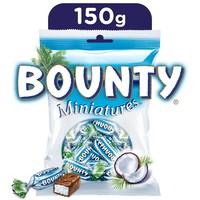 Bounty Miniatures Milk Chocolate Mini Bars Pouch 150 g