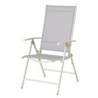 Steel Textline Folding Chair Light Beige Frame W57xD67cm