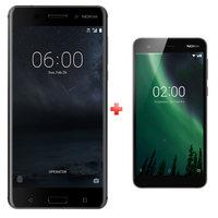 Nokia 6 Dual Sim 4G 64GB Black + Nokia 2 Dual Sim 4G