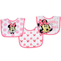 Minnie 3 pack Cotton Bibs