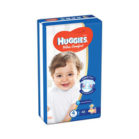 Huggies  Comfort Diapers Jumbo Size 4 +Small Size 4 Free