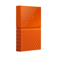 Western Digital My Passport Portable External Hard Drive 4TB Orange