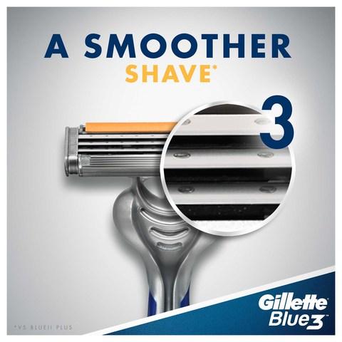 Gillette-Blue3-Men's-Disposable-Razors,-6-count