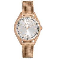 Lee Cooper Women's Analog Rose Gold Case Rose Gold Super Metal Strap Silver Dial -LC06320.430