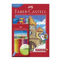 Faber-Castell Color Pencil 24+Pixelit Book
