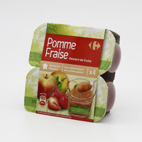 Carrefour campote apple strawberry sauce 4 x 100 g