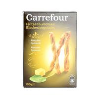 Carrefour Guyere Spinach Twist 100g