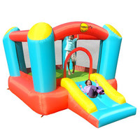 Happy Hop Inflatable castle-Airflow Bouncer with Slide