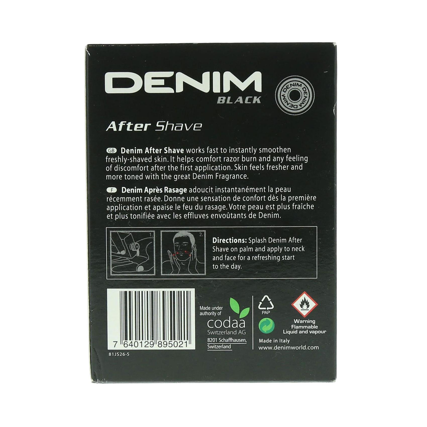 DENIM AFTER SHAVE BLACK 100ML