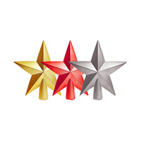 Star Tree Top Shiny Silver (Single Pc) 20CM