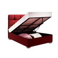 Lana Bed Set Box With Mattress 170X190 Cm Maroon