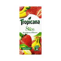 Tropicana Slice Strawberry & Banana Natural Fruit Drink 1L