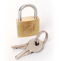 Travel Blue Brass Padlock 20Mm