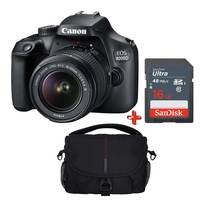Canon DSLR Camera EOS 4000D EFS 18-55MM DC III + 16 GB Card + Case