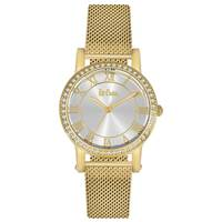 Lee Cooper Women's Analog Gold Case Gold Super Metal Strap Silver Dial -LC06353.130