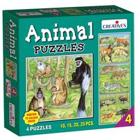 Creative's Educational Aids 0704 Animal Puzzle No. 4 (10 to 25 Piece)