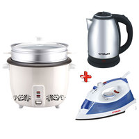 Crownline Bundle Iron-Rice Cooker -Kettle