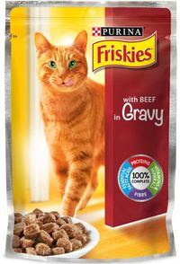 PURINA FRISKIES CAT FOOD BEEF 100G