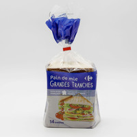 Carrefour wheat sandwich loaf bread 550 g