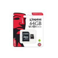 Kingston Micro SD Card Class 10 64GB Black