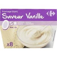 Carrefour Soft Cheese Vanilla 0% 100gx8