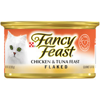 Purina Fancy Feast Flaked Chicken & Tuna Wet Cat Food 85 g