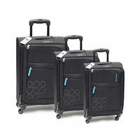 Kamiliant Spinner Luggage Trolley Bag Set Of 3 Pieces - Black