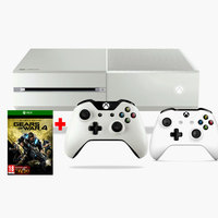 Microsoft Xbox One S 500GB Console+Minecraft+Gears Of War+3 Months Live+2 Wireless Controllers