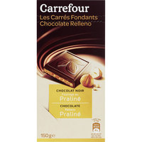 Carrefour Chocolate Dark Filled with Praline 100g