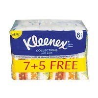 Kleenex Facial Tissue 100 Sheets Soft Pack 7+5 Free