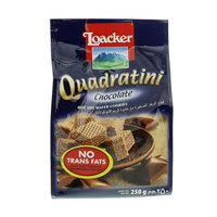 Loacker Quadratini Chocolate Bite Size Wafer Cookies 250g