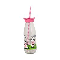 Renga Glass Bottle With Straw 500 Ml
