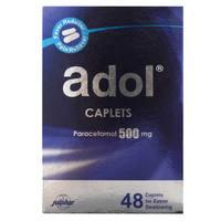 Adol Caplets Paracetamol 500mg 48 Caplets