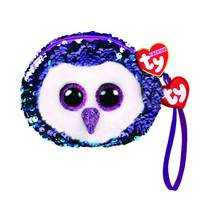 Ty Fashion Moonlight the Purple Owl Sequin Wristlet