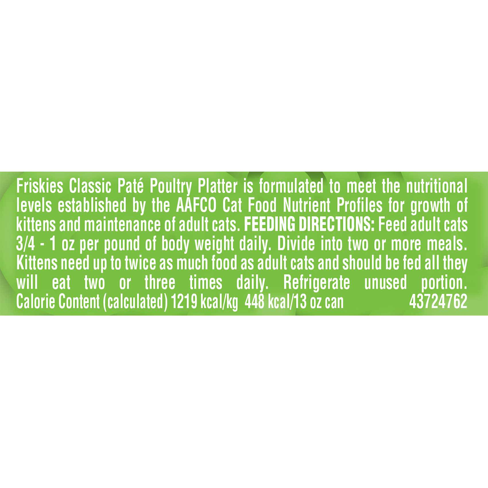 FRISKIES CLASIC PATE POULTRY 13OZ