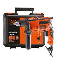 Black&Decker Hamer Dril Kbox 710W+50Pcs Bi