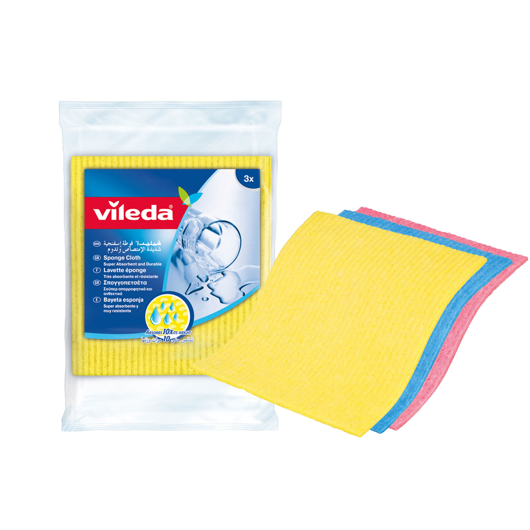 VILEDA SPONGE CLOTH 3PC